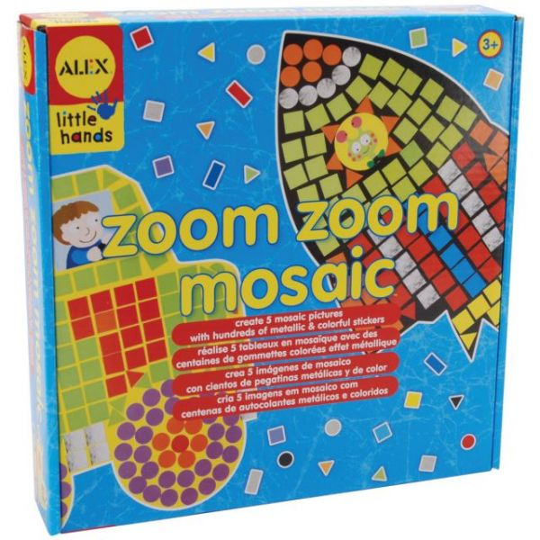 ALEX Toys Little Hands Zoom Zoom Mosaic Kit