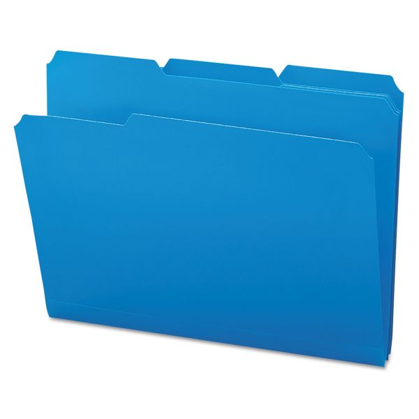 Smead Blue Colored Poly File Folders