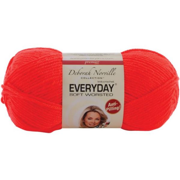 Deborah Norville Collection Everyday Soft Worsted Yarn - Flame Orange