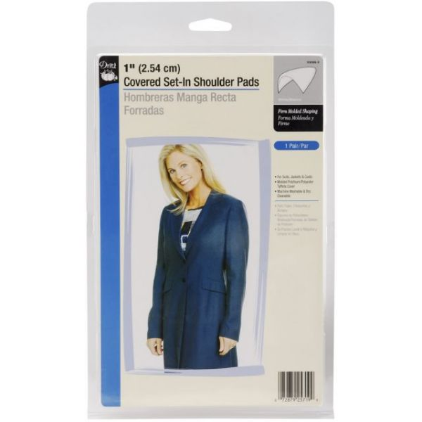 "1"" Covered Set-In Shoulder Pads 2/Pkg"