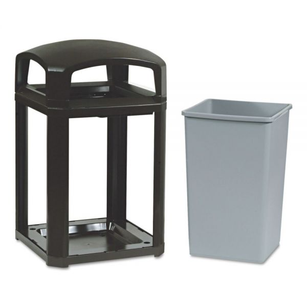Rubbermaid Landmark Series Classic Dome Top 35 Gallon Trash Can