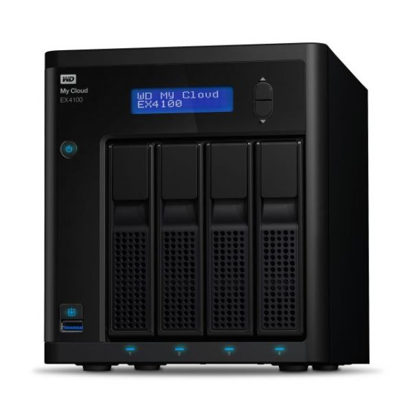 WD My Cloud Business Series EX4100, 16TB, 4-Bay Pre-configured NAS with WD Red Drives