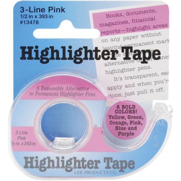 "Highlighter Tape .5""X393"""