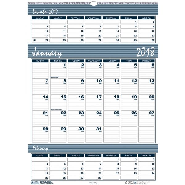 House of Doolittle Bar Harbor 3-Month Wall Calendar