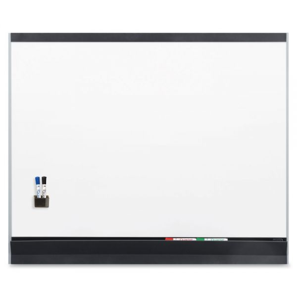 Quartet Porcelain Magnetic Whiteboard, 72 x 48, White/Graphite