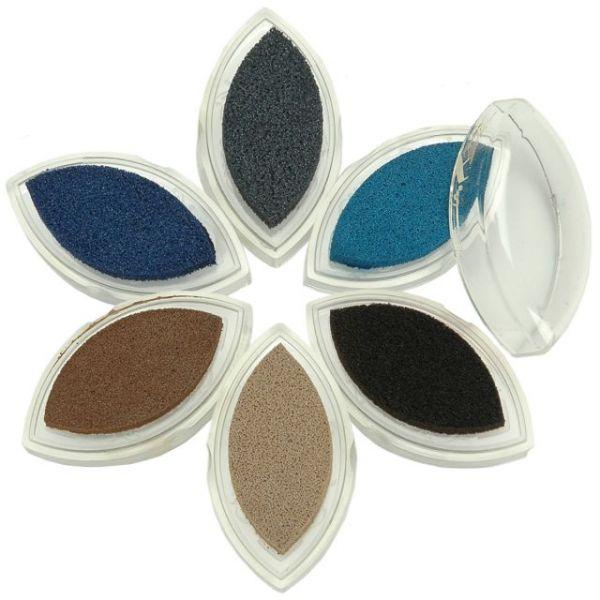 ColorBox Fluid Chalk Cat's Eye Queue Ink Pad 6/Pkg