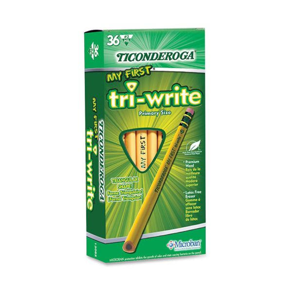 Ticonderoga My First Tri-Write #2 Wood Pencils