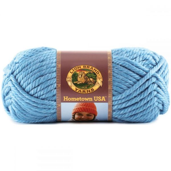 Lion Brand Hometown USA Yarn - Charlotte Blue