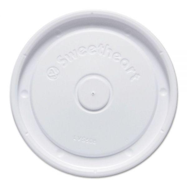 Dart Polystyrene Lids f/6-10 oz Food Containers, White, 100/Bag, 20 Bag/Carton
