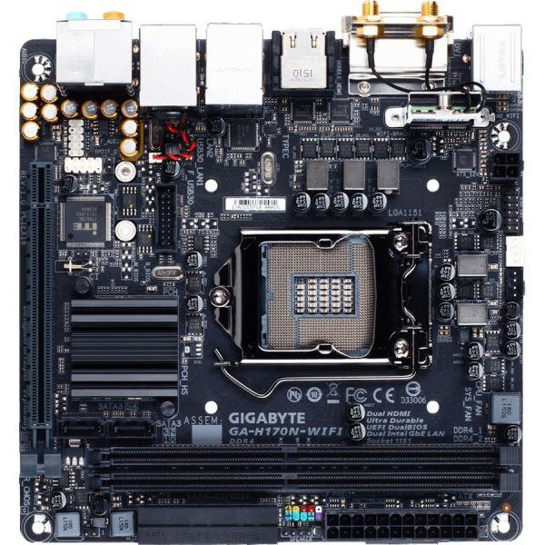 Gigabyte Ultra Durable GA-H170N-WIFI Desktop Motherboard - Intel Chipset - Socket H4 LGA-1151