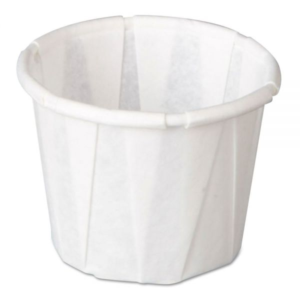 Genpak Squat 0.5 oz Pleated Paper Portion Cups