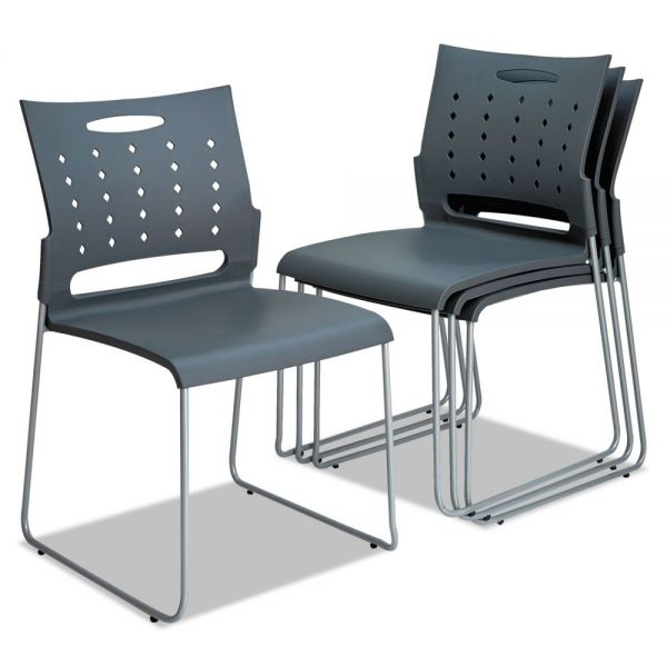 Alera Continental Series Plastic Stacking Chairs