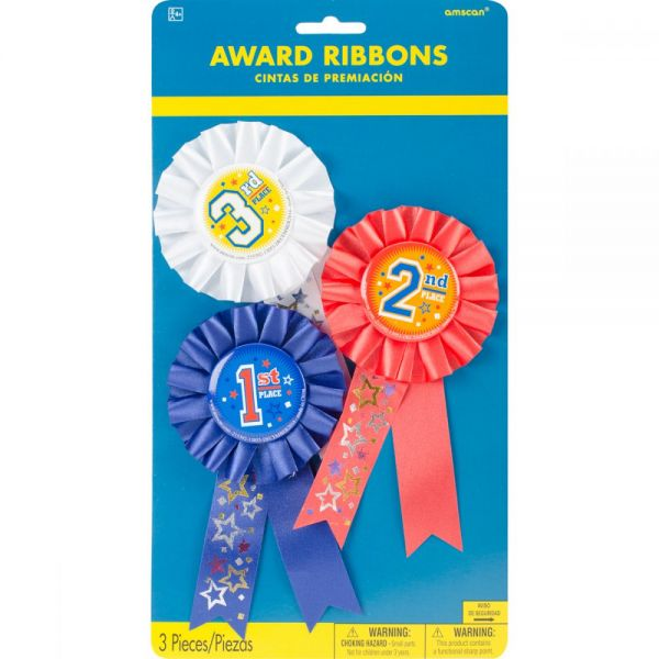 "Award Ribbons 6"" 3/Pkg"