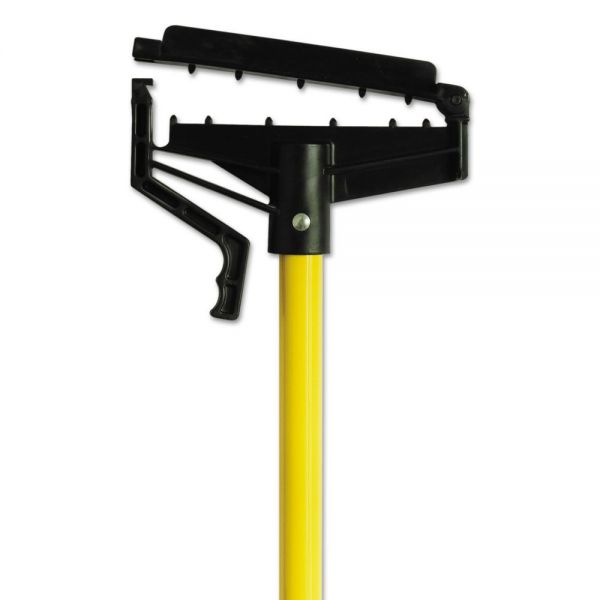 "O-Cedar Commercial Quick-Change Mop Handle, 60"", Fiberglass, Yellow, 6/Carton"