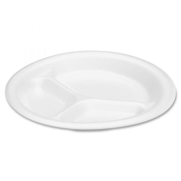 """Genpak Celebrity 9"""" Foam Comparment Plates"""