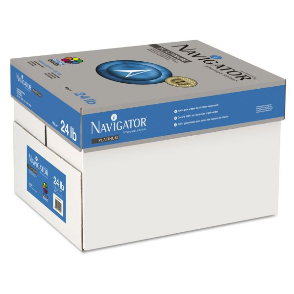 "Navigator Platinum Multi-Purpose White 11"" x 17"" Copy Paper"