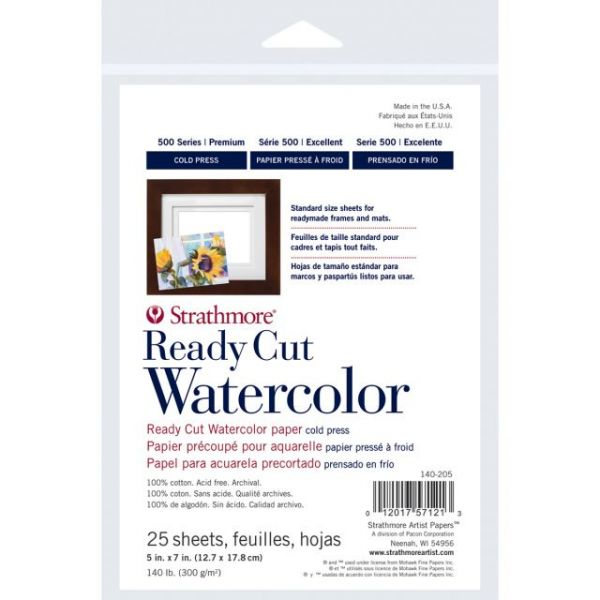 Strathmore Acid Free Ready Cut Watercolor Paper