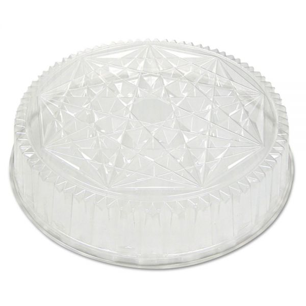Pactiv Round CaterWare Dome-Style Food Container Lids, 1-Comp, Clear, 18dia, 50/Carton