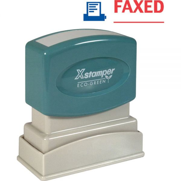 Xstamper Red/Blue FAXED Title Stamp