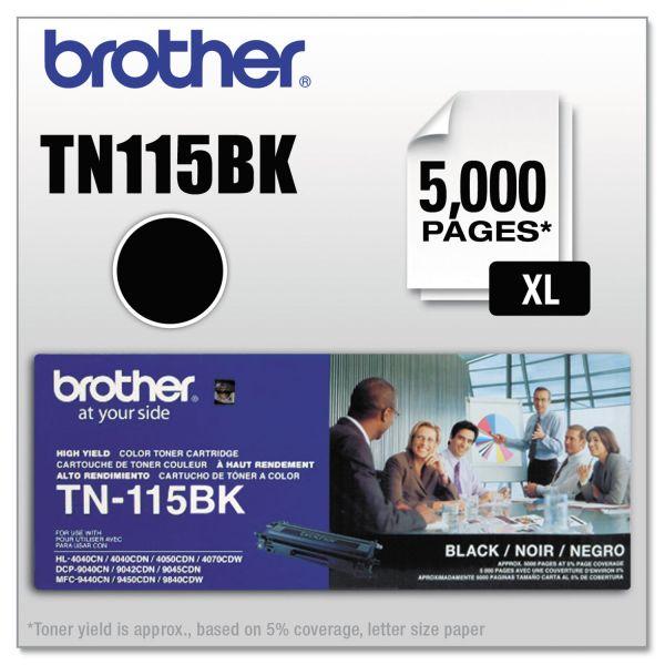 Brother TN-115BK High Yield Toner Cartridge