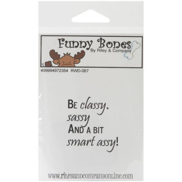 "Riley & Company Funny Bones Cling Mounted Stamp 1.75""X1.75"""