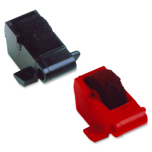 Dataproducts Compatible Ink Rollers for Canon/Sharp Calculators, Black/Red, Two per Pack