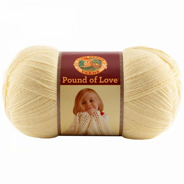 Lion Brand Pound Of Love Yarn - Pastel Yellow