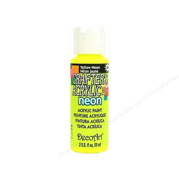Deco Art Yellow Neon Crafter's Acrylic Paint