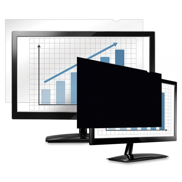 """Fellowes PrivaScreen Blackout Privacy Filter - 23.8"""" Wide Black"""