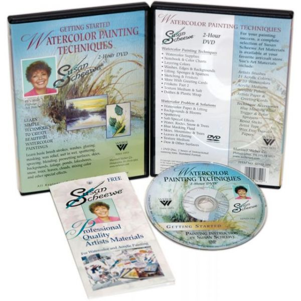Susan Scheewe Watercolor Painting Techniques DVD