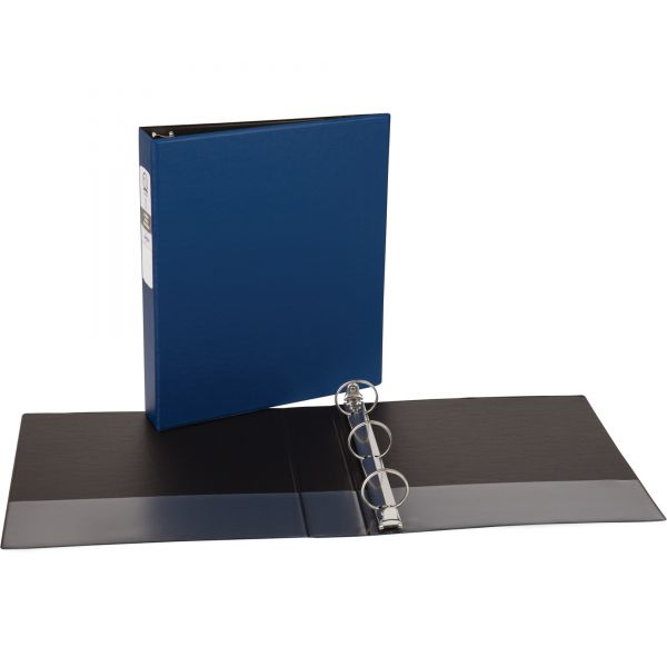 "Avery Economy Non-View 3-Ring Binder, 1 1/2"" Capacity, Round Ring, Blue"