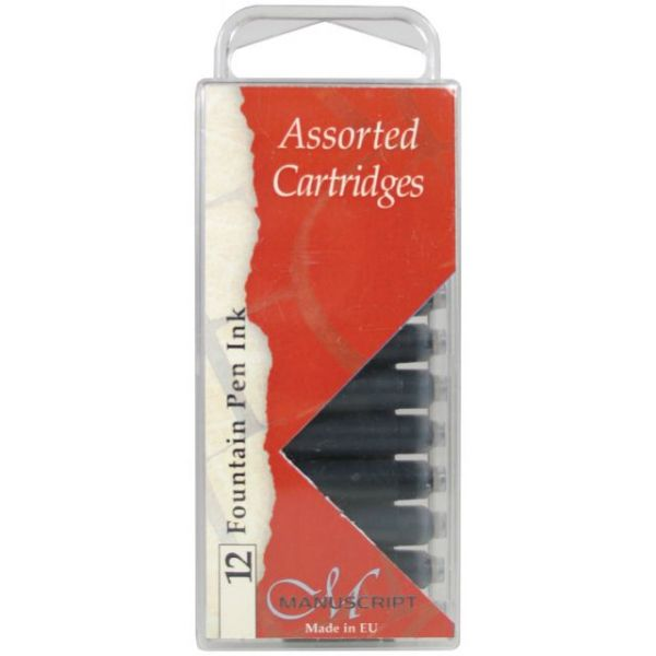 Manuscript Fountain Pen Ink Cartridges 12/Pkg