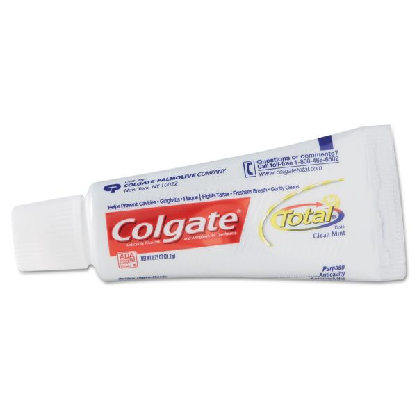 Colgate Total Clean Mint Toothpaste, .75 oz Tube, 24/Carton