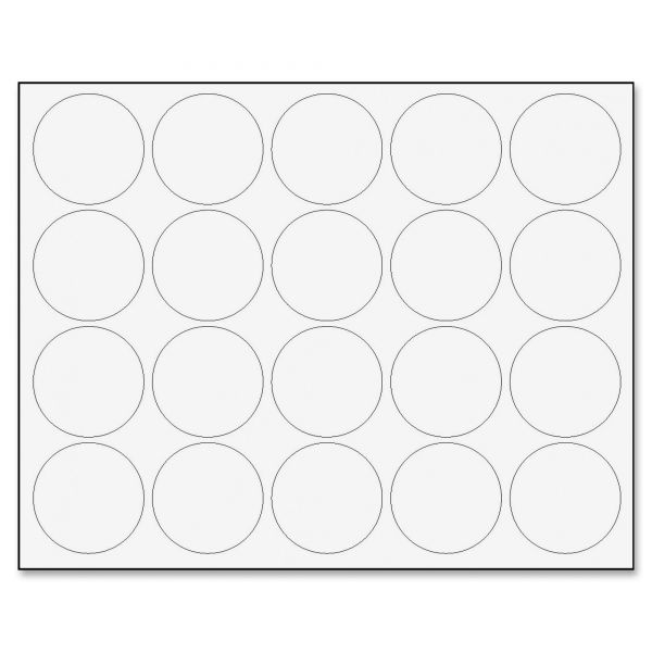 "MasterVision Interchangeable Magnetic Characters, Circles, White, 3/4"" Dia., 20/Pack"