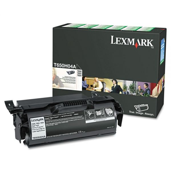 Lexmark T650H04A High-Yield Toner, 25000 Page-Yield, Black