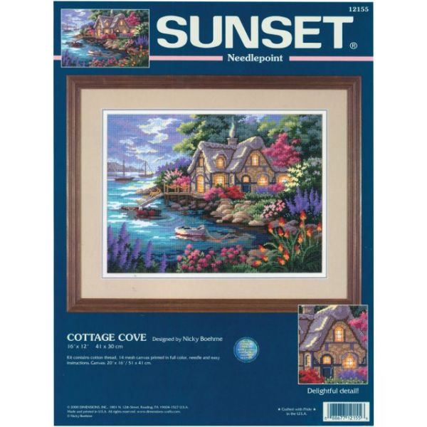 Cottage Cove Needlepoint Kit
