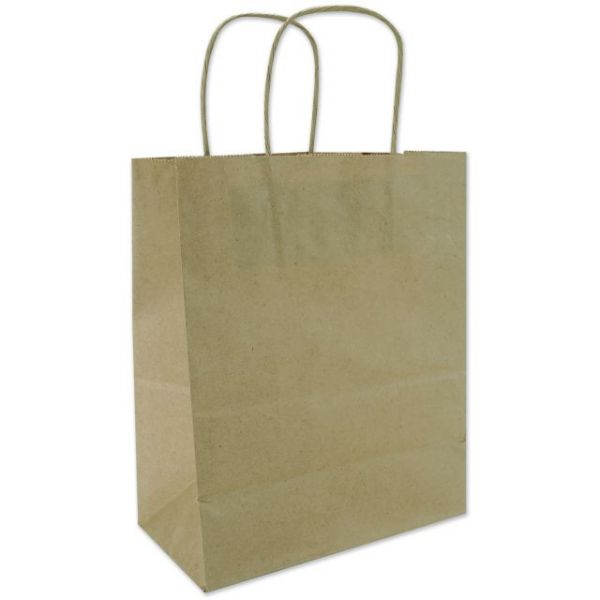 "Tinted Kraft Bags Medium 7.75""X9.75""X4.75"""