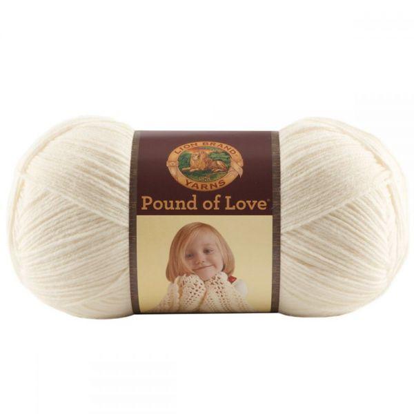 Lion Brand Pound Of Love Baby Yarn - Antique White