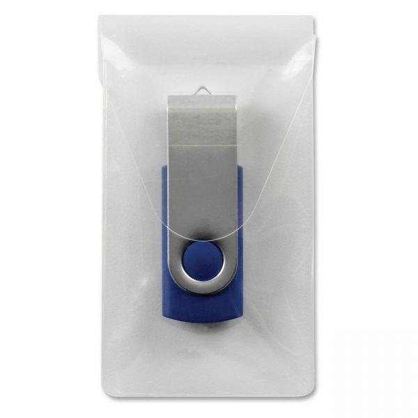 Smead 68150 Clear Self-Adhesive Poly USB Flash Drive Pocket