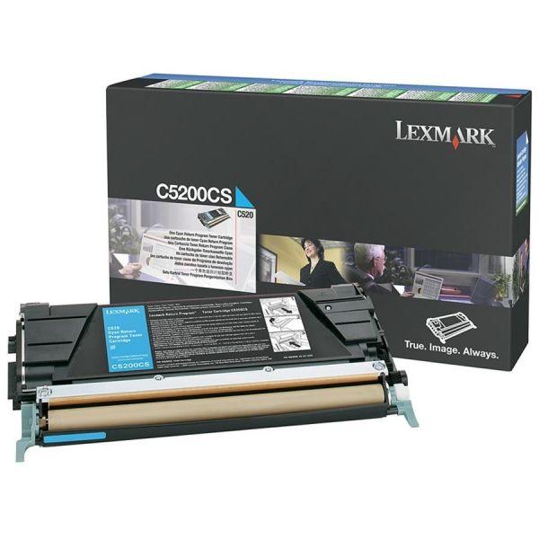 Lexmark C5200CS Cyan Return Program Toner Cartridge