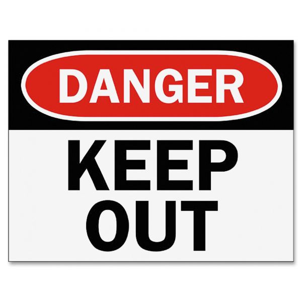 Tarifold Safety Sign Inserts-Danger Keep Out