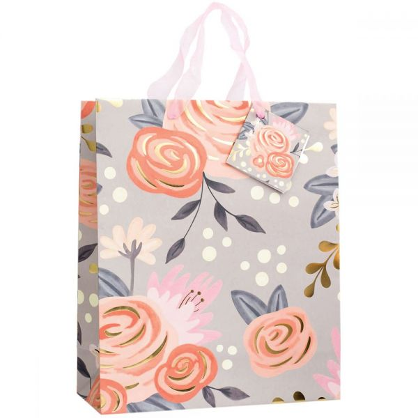 "Gift Bag W/Ribbon Handles & Gift Card 12""X10""X5"""