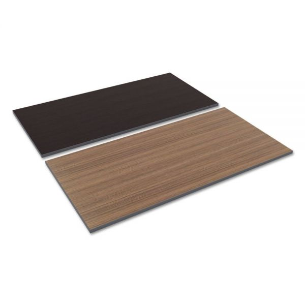 Alera Reversible Laminate Table Top, Rectangular, 59 1/2w x 29 1/2d, Espresso/Walnut