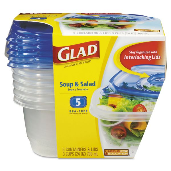 Glad Soup & Salad Food Storage Containers