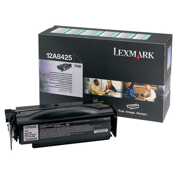 Lexmark 12A8425 Black High Yield Return Program Toner Cartridge