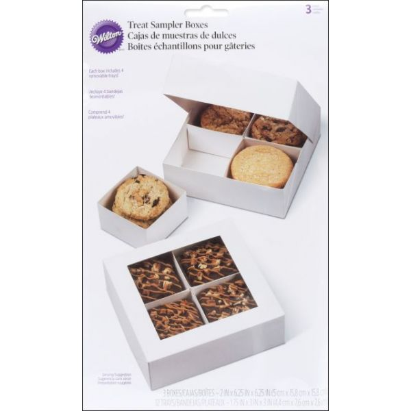 Sampler Boxes W/Removable Trays