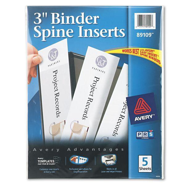 "Avery Binder Spine Inserts, 3"" Spine Width, 3 Inserts"