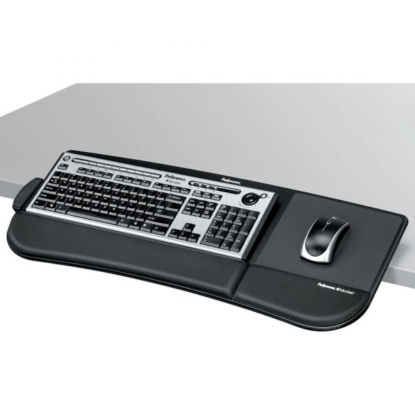 Fellowes Tilt 'n Slide Keyboard Manager, 19-1/2w x 11-7/8d, Black