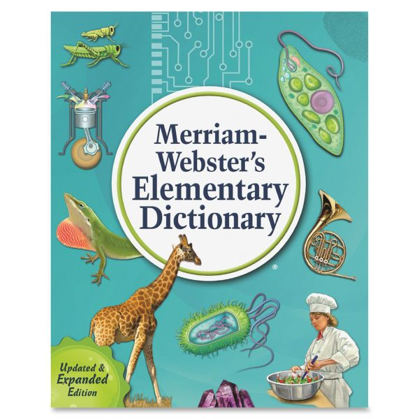 Merriam Webster Elementary Dictionary, Grades 2-5, Hardcover, 624 Pages