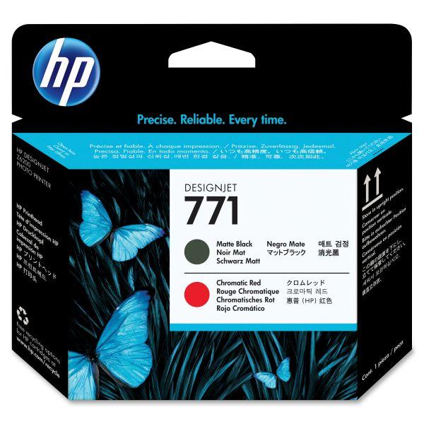 HP 771 Matte Black/Red Printhead (CE017A)
